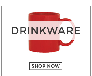 Picture of a mug. Drinkware. Click to Shop Now.