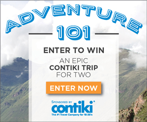 Adventure 101, enter to win an epic contiki trip for 2. Enter now.