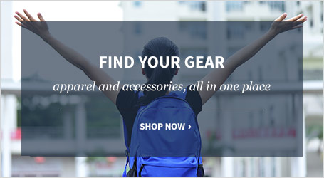 Find Your Gear. Apparel and accessoires, all in one place.