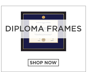 Picture of a diploma frame. Diploma Frames. Click to Shop Now.