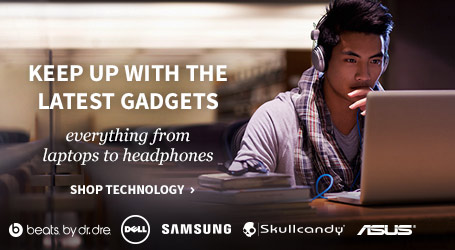 Keep up with the latest gadgets, everything from laptops to headphones. Shop technology.