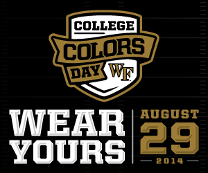 College Colors Day. Wear Yours August 29, 2014.